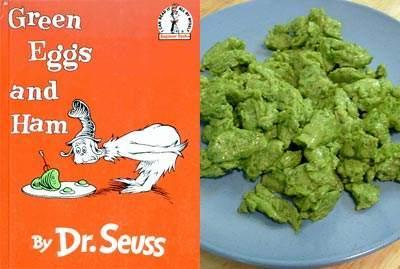 Zaļas olas ar šķiņķi Ļoti... Autors: KinDzaDza Ēdieni dīvainās krāsās