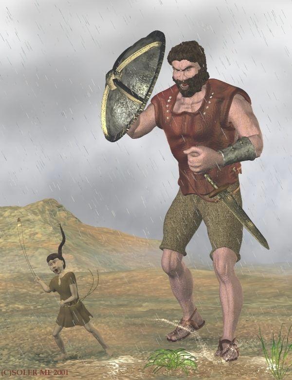 Goliāts milzu auguma tēvainis... Autors: Fosilija 10 slaveni milži!!