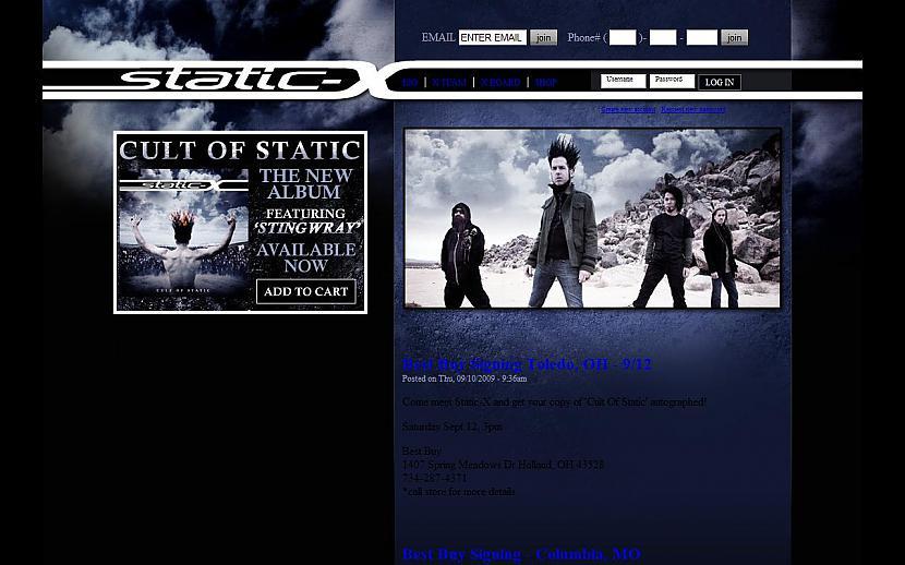 STATICX httpwwwstaticxcom Autors: Liver Mūziķu / muzikālo apvienību mājas lapas