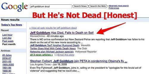 Džefs Golblūms ir miris Autors: MiniMe Melīgais internets jeb Zvaigznes, kas mirst tikai netā.