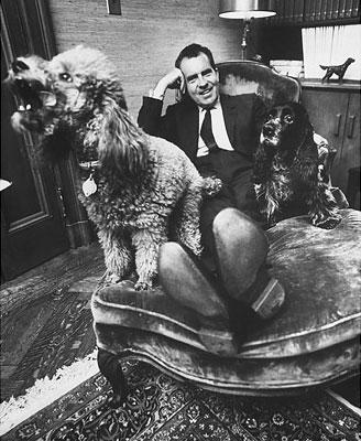 Ričards Niksons ar savu... Autors: aisse Valsts pirmie suņi