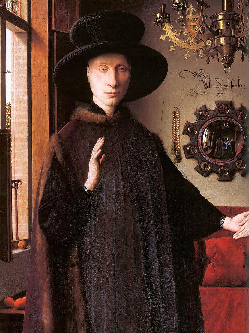 Arnolfini nodarbojās ar auduma... Autors: historian Arnolfīni laulības