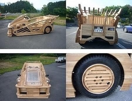 Wooden Supercar Built in Japan... Autors: Booyakah Izstradajumi no koka