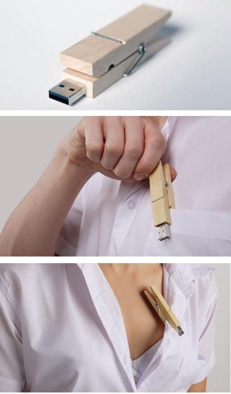 Wooden Clamp USB Flash Drive... Autors: Booyakah Izstradajumi no koka