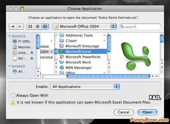 """Kad MS Excel nevar atvērt XLS Autors: Murmulls Smieklīgi """"errori""""!"""