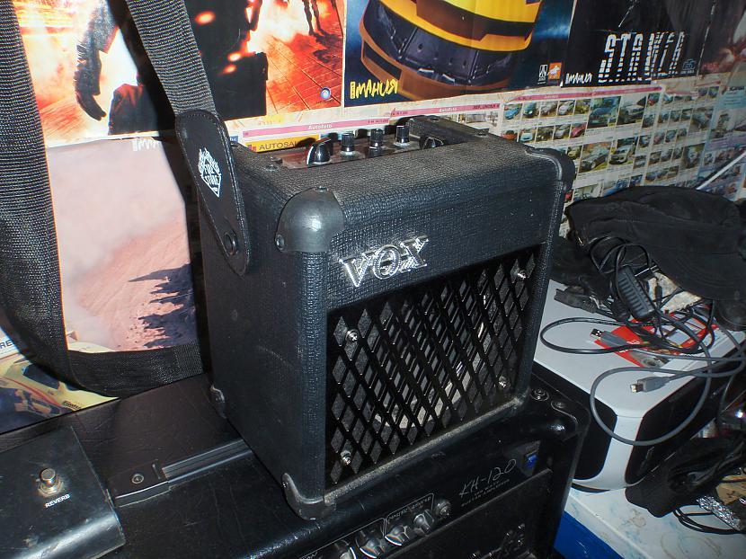 Ta vel man ir šitas brīnums... Autors: Krizix Krizix's guitar gear.