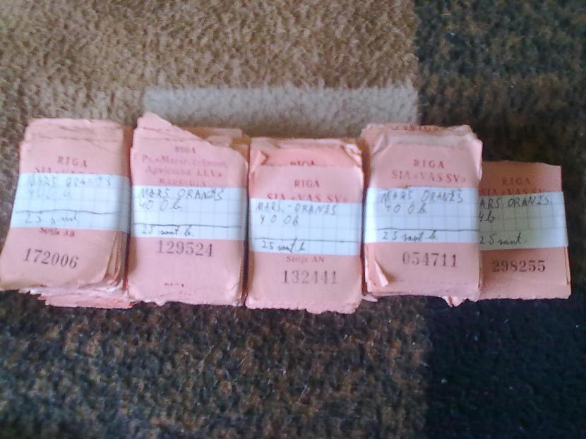 Visvairāk ir oranžās mikriņu... Autors: Dzoker Mana RS un citu biļešu kolekcija
