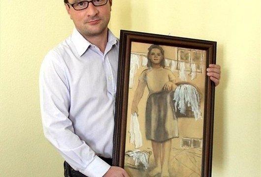1 Autors: chainjjiks Vīrietis gatavojas precēties ar gleznu