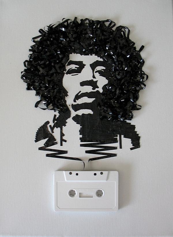 Džimijs Hendriks Autors: Rockforgoodtimes Apbrīnojamā kasešu māksla