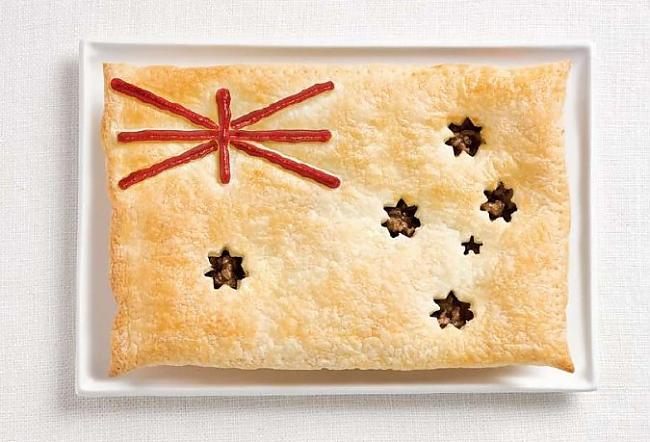 Austrālija Autors: CoffeeQueen Valsts karogs no ēdiena