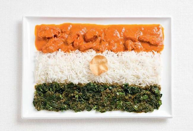 Indija Autors: CoffeeQueen Valsts karogs no ēdiena