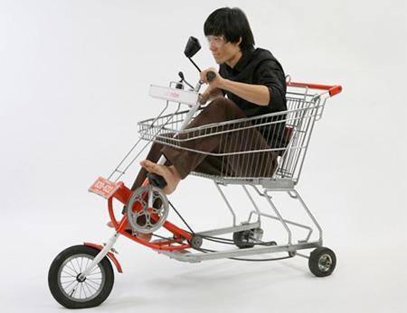 Iepirkumu ratiņi  velosipēds Autors: LVmonstrs Unikāli un kreatīvi velosipēdi