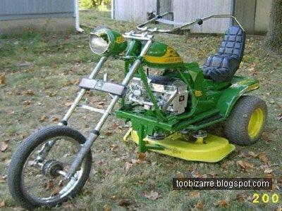 Zāles pļaujamais tricikls Autors: FOXERISs Jocīgie motocikli