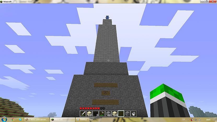 skats no apakšas Mildai zem... Autors: silveriits Brīvības piemineklis (minecraft)