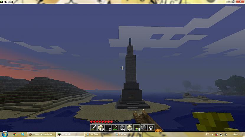 saule riet pie mūsu pieminekļa Autors: silveriits Brīvības piemineklis (minecraft)