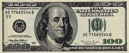 Šādi izskatās 100 dolāru Autors: Fosilija Kā izskatās triljons dolāru?