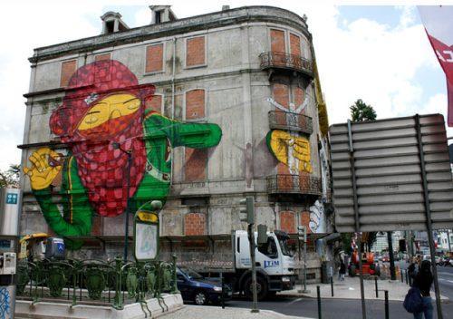 Autors: MINKA321 Interesanti zīmējumi uz ēkām.