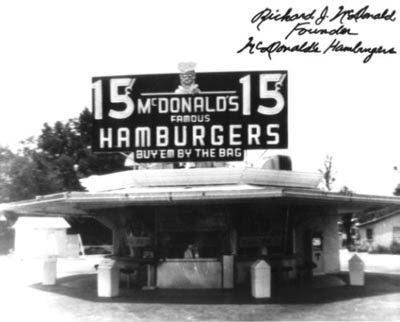 Pirmais McDonalds Autors: KingOfTheSpokiLand Reti foto no vēstures