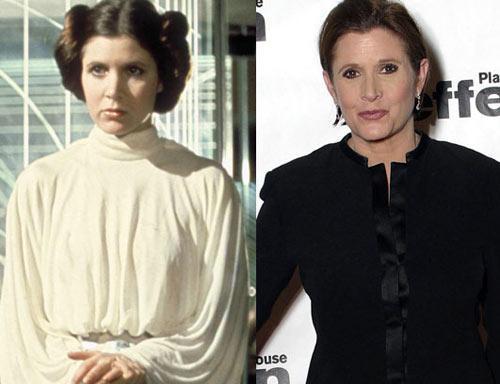 Carrie Fisher Princess Leia Autors: Edgarinshs Star-wars aktieri pēc 30 gadiem