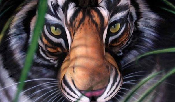 South China Tiger Autors: Fosilija Body art!