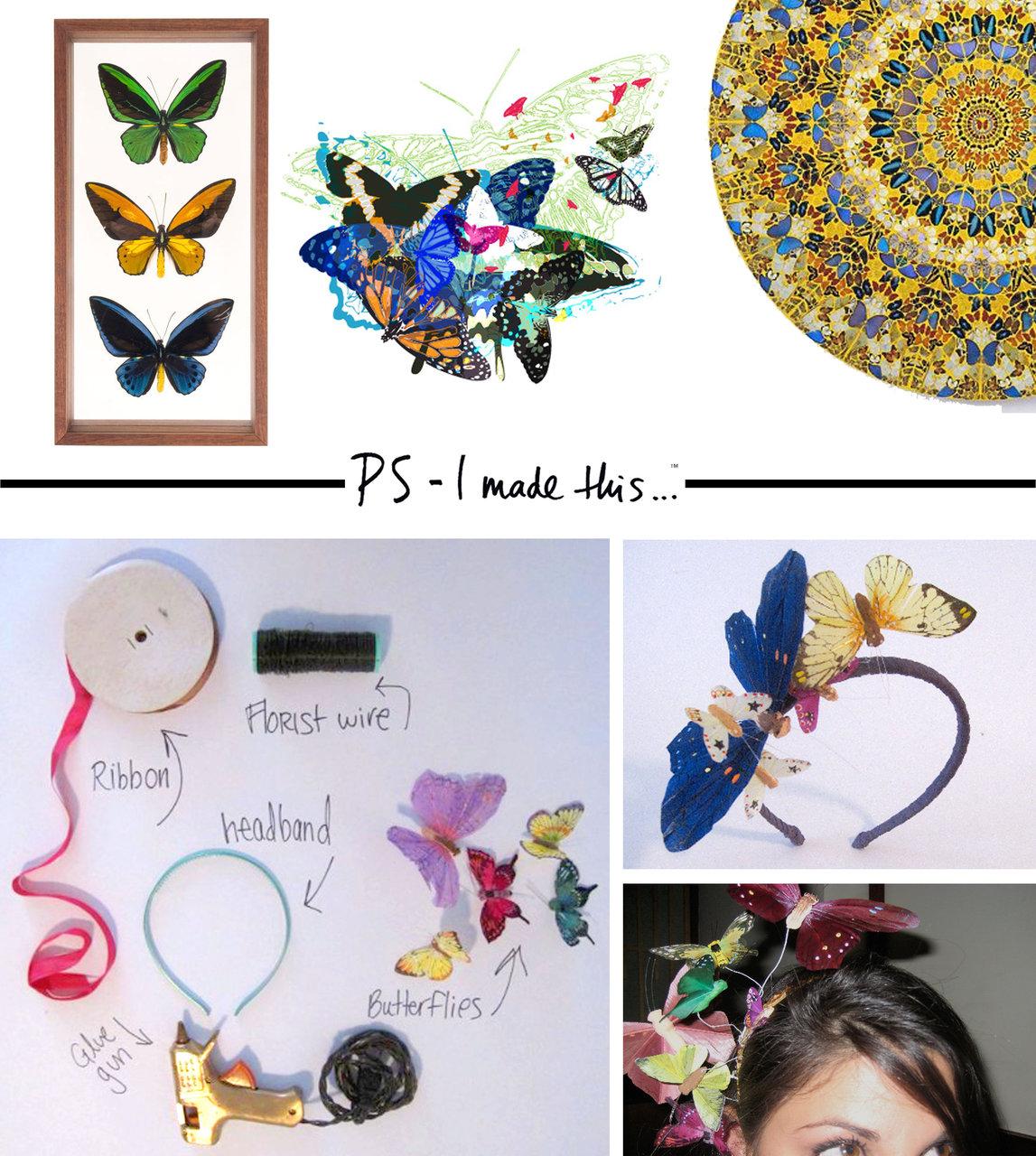 0. Из симпатичных бабочек можно сделать необычный ободок для вашего ребенка.  Поверьте, вам потребуется не так уж...