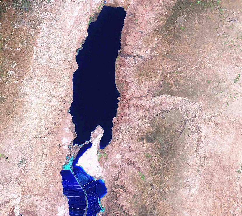 Nāves jūra Autors: aģents 007 Attēli no SKS (starptautiskās kosmosa stacijas)