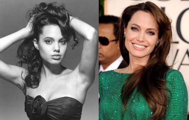 Angelina Jolie Autors: Kobis Filmu zvaigznes jaunībā un tagad