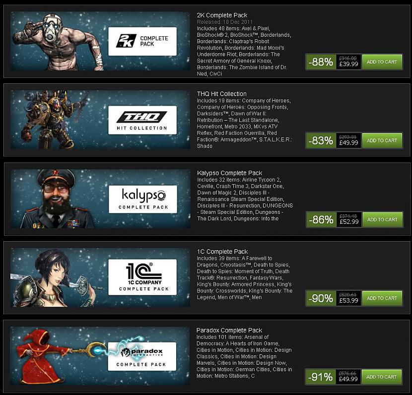 Ir pieejamas arī dažādas pakas... Autors: ricards009 Steam svētku izpārdošana