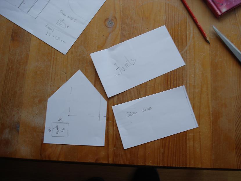 Sākumā izveidoju šablonus... Autors: sierdesmaize Piparkūku mājiņa!