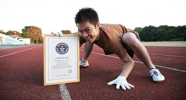 Šis japānis 100 metru distanci... Autors: Fosilija Unikālākie Ginesa rekordi