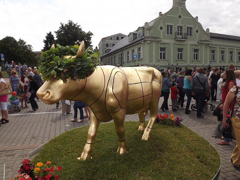 Latvijas zelta govs Zelts kā... Autors: rutazeva ''Govju parāde'' Ventspilī.