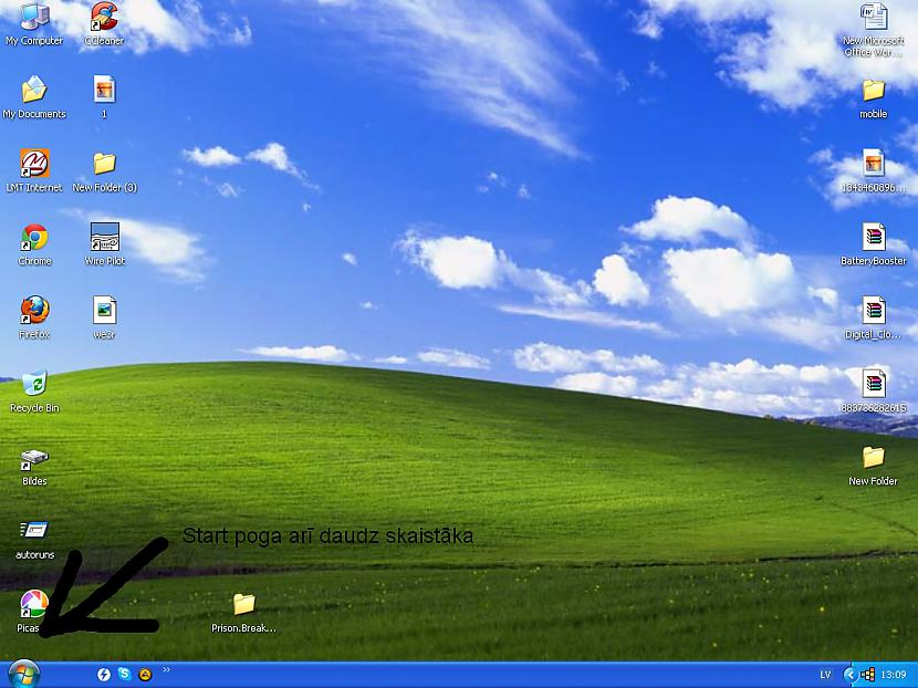 Piramais kas krīt acīs start... Autors: Fosilija Start menu-x jauns softs priekš xp