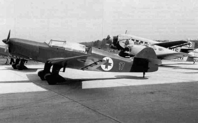 ...конструкции Карлиса Ирбитиса, произведенный в 1938 году на авиационном отделении завода VEF.