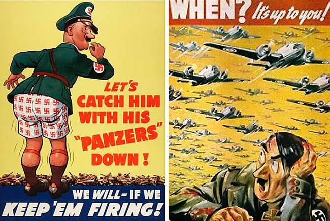 Hitlers tajā pascarona laikā... Autors: Moonwalker 2. Pasaules Kara propaganda