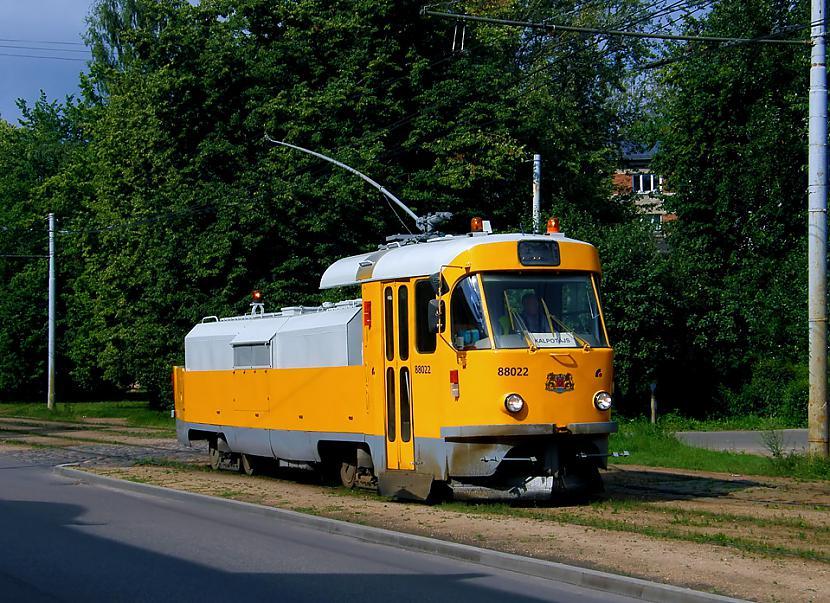 Tramvajs Tatra T3SU kalpotājs... Autors: Fosilija Tramvaji Rīgā.
