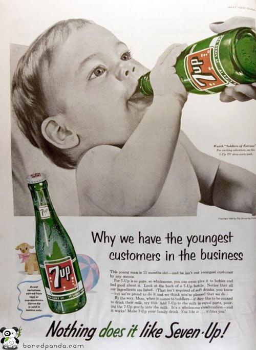Mums ir pascaroni jaunākie... Autors: Fosilija Reklāmas, kas mūsdienās būtu aizliegtas