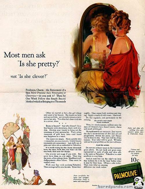 Vīriescaroni jautā quotVai... Autors: Fosilija Reklāmas, kas mūsdienās būtu aizliegtas