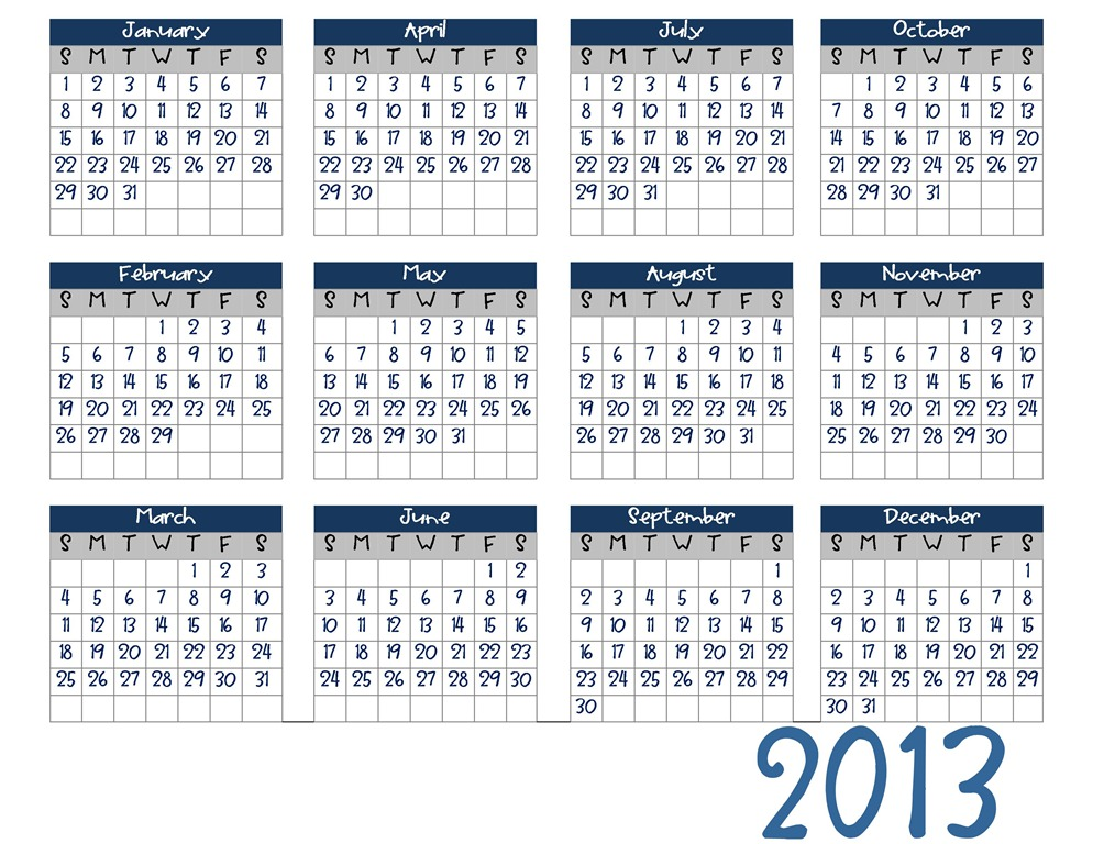 More Picture For 2013 calendar printable 57 2013 calendar printable.