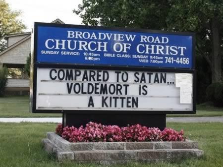 Salīdzinot ar Sātanu ... Autors: Budzisss Baznīca mēģina jokot...