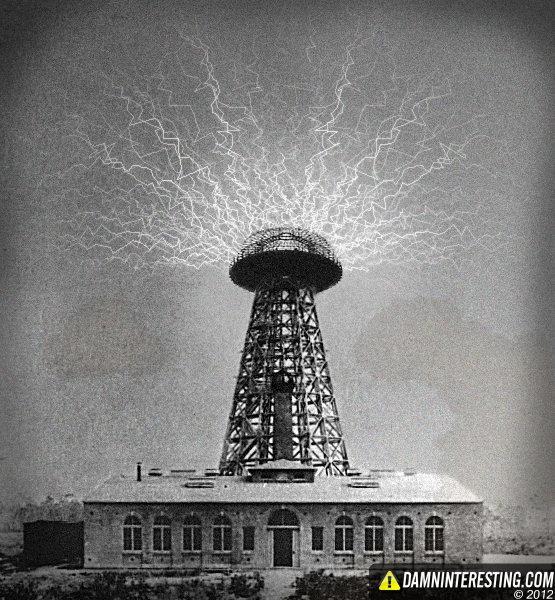 1905 gadā mazā Ņujorkas ciemā... Autors: Gugols Nikola Teslas tornis – Bezvadu elektrība