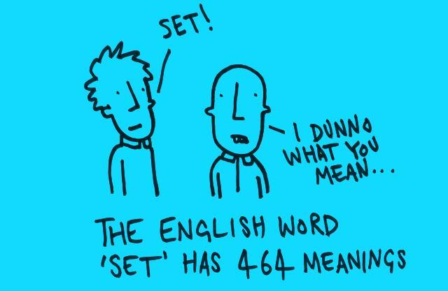 Angļu vārdam quotSETquot ir... Autors: Fosilija 20 nedzirdēti fakti. Pirmā daļa.