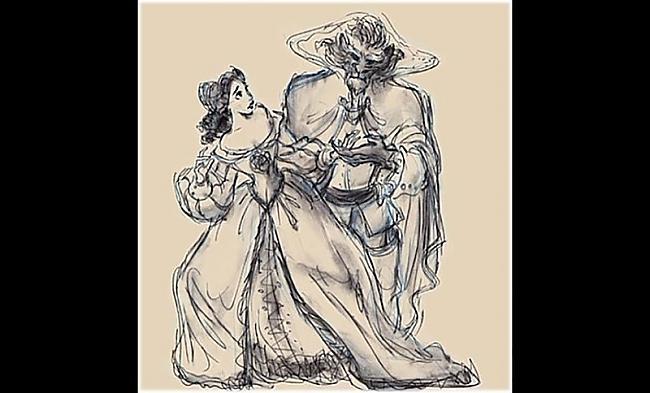 Beauty and the Beast 1991 gads Autors: zhagata13 Multeņu varoņi mākslinieku skicēs