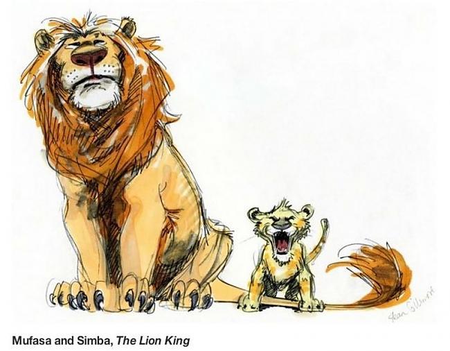 Karalis Lauva 1994 gads Autors: zhagata13 Multeņu varoņi mākslinieku skicēs