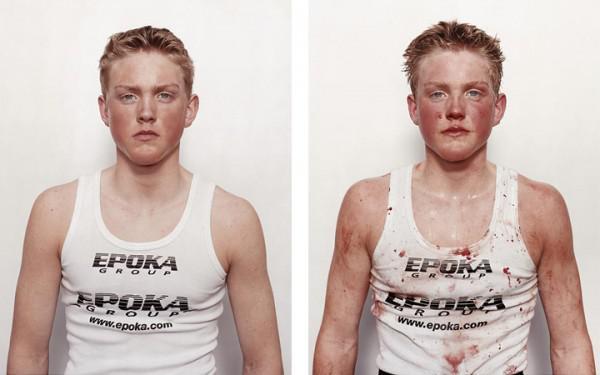 Autors: Šamaniss Bokseri, pirms un pēc.