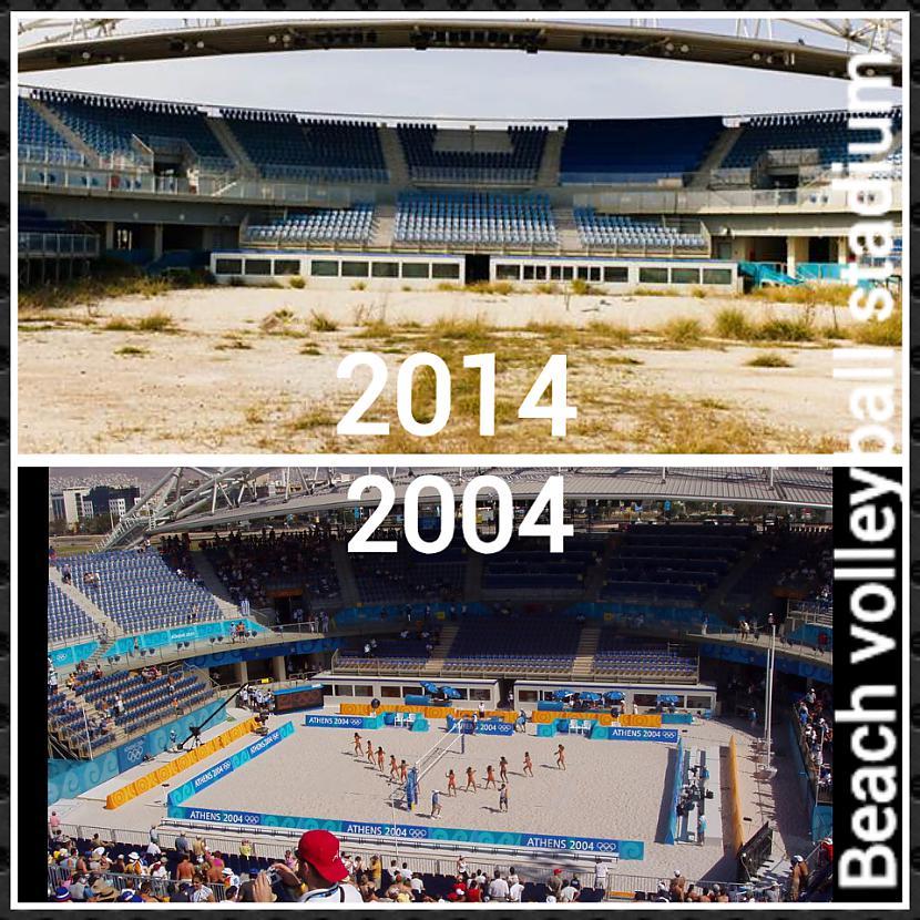 Volejbola laukums pascaronlaik... Autors: ghost07 Kā izskatās Atēnu olimpiskie objekti pēc 10 gadiem?