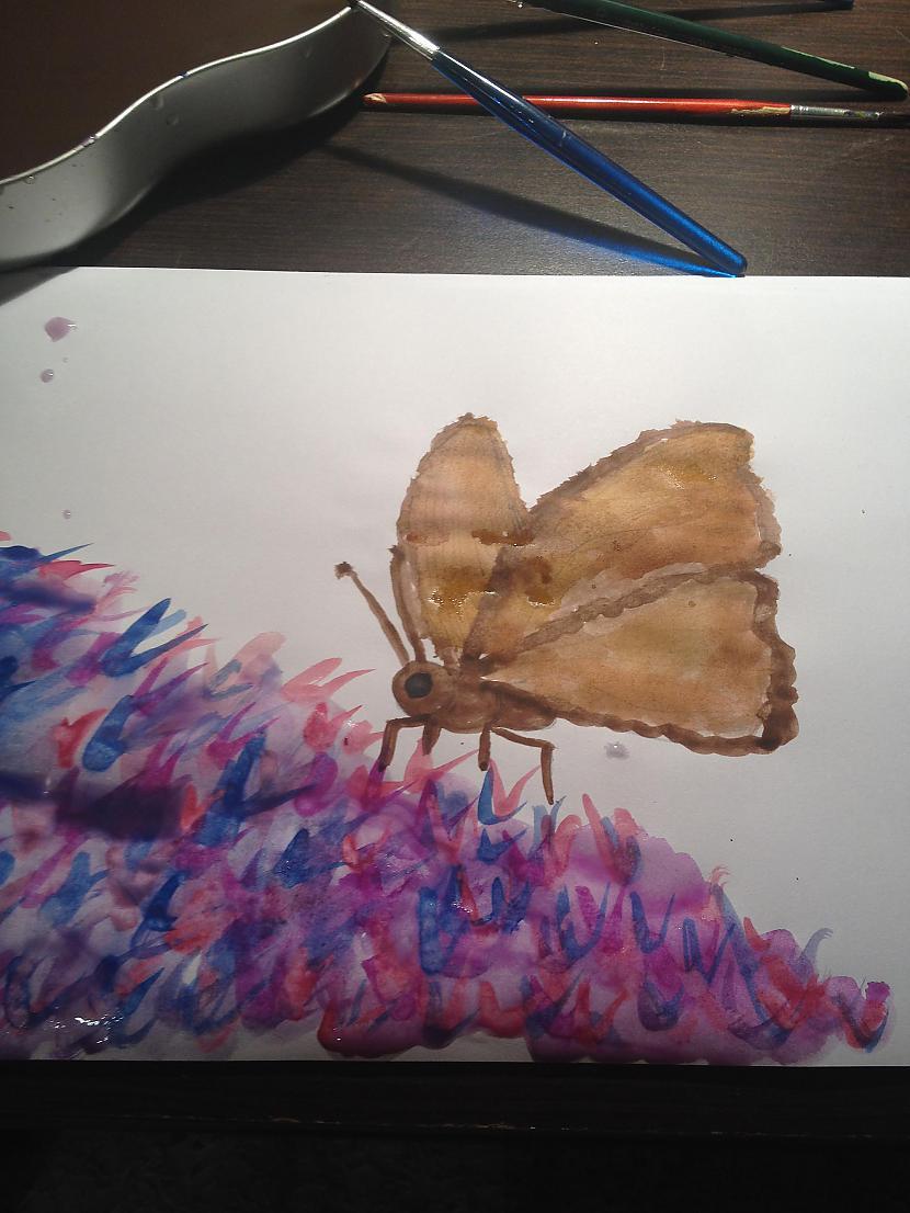 Piezīmēju tādu kā ziedu pļavu Autors: DancuksijaD Mans zīmējums ar akvareļiem!