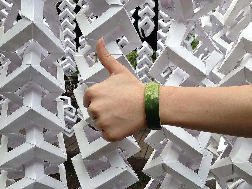 Arbūzu mizas zaļā aproce Autors: Sveiksunvesels Zaļa aproce - BRĪVĪBAS simbols tiem, kuri nesmēķē!