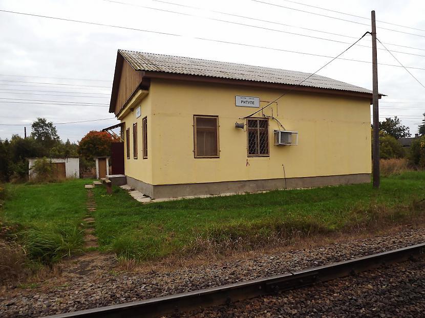 1946gadā Rītupes stacija tika... Autors: Carloss Dzelzceļa stacijas un pieturas punkti līnijā Rītupe - Zemgale