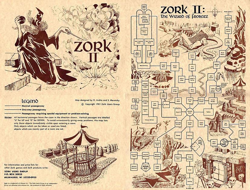 Zork II 1981 Labirinta... Autors: Werkis2 Grūtākie un bezjēdzīgakie uzdevumi, jeb mīklas (puzzles) videospēlēs.