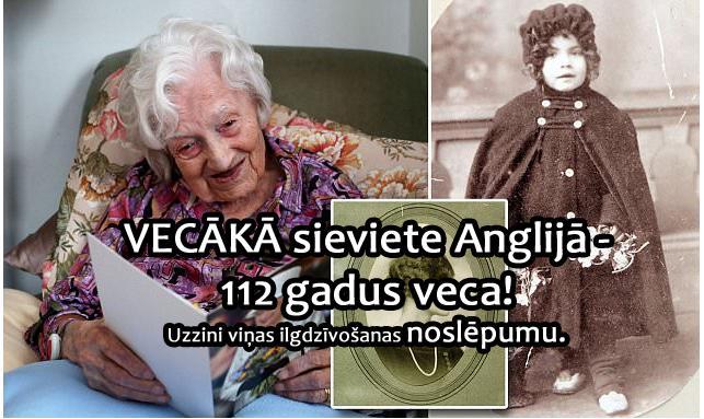 Galvā riņķo tikai viens... Autors: EV1TA Vecākā iedzīvotāja Anglijā  - 112 gadus veca!